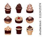 set of desserts. icons   Shutterstock .eps vector #1112415374