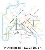 colored metro vector map of... | Shutterstock .eps vector #1112418767