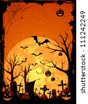 grunge halloween night... | Shutterstock . vector #111242249