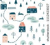 seamless landscape pattern.... | Shutterstock .eps vector #1112423027