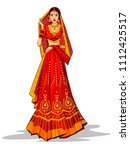 beautiful indian bride in... | Shutterstock .eps vector #1112425517