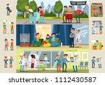smoking horizontal brochures... | Shutterstock .eps vector #1112430587