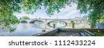 kew bridge panorama in west... | Shutterstock . vector #1112433224