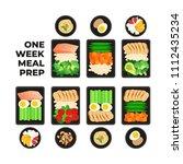 vector illustration of meal... | Shutterstock .eps vector #1112435234