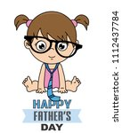 baby girl disguised as dad....   Shutterstock .eps vector #1112437784