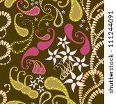 floral seamless pattern | Shutterstock .eps vector #111244091