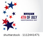 happy 4th of july usa... | Shutterstock .eps vector #1112441471