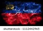 liechtenstein smoke flag | Shutterstock . vector #1112442965