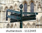 confusing street sign in york ...