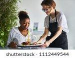 african american women being... | Shutterstock . vector #1112449544