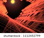 modern architecture. the... | Shutterstock . vector #1112452799