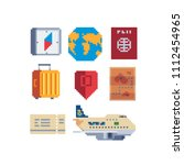 travel destination pixel art... | Shutterstock .eps vector #1112454965