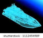 3d model yacht | Shutterstock . vector #1112454989