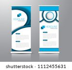 roll up stand design. vertical... | Shutterstock .eps vector #1112455631