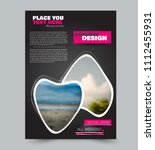 flyer design template. brochure ... | Shutterstock .eps vector #1112455931