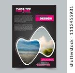 flyer design template. brochure ... | Shutterstock .eps vector #1112455931