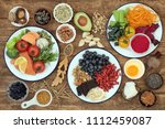 healthy super food with health...   Shutterstock . vector #1112459087