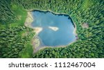 aerial top view on heart of... | Shutterstock . vector #1112467004