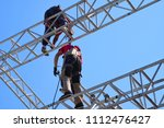 group of worker in safety... | Shutterstock . vector #1112476427
