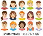 vector teenagers or pupil... | Shutterstock .eps vector #1112476439