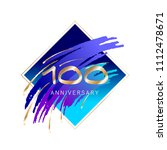 100th anniversary. gold numbers ... | Shutterstock .eps vector #1112478671