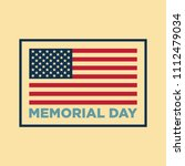 usa sign. memorial day. 4th of... | Shutterstock . vector #1112479034