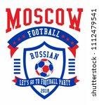 soccer ball graphic design... | Shutterstock .eps vector #1112479541