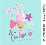 typography slogan with ice... | Shutterstock .eps vector #1112480987
