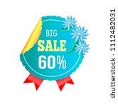 big sale 60  off round advert...   Shutterstock .eps vector #1112482031