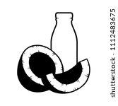 vector coconut milk icon on... | Shutterstock .eps vector #1112483675