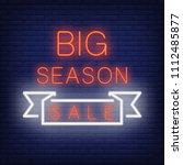Big Season Sale Neon Sign. Red...