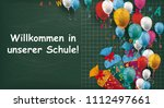 """german text """"willkommen in...   Shutterstock .eps vector #1112497661"""