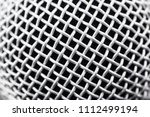 metal part of the microphone... | Shutterstock . vector #1112499194