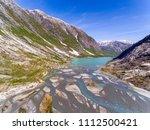 aerial view near nigardsbreen... | Shutterstock . vector #1112500421