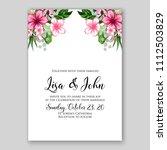 tropical summer floral wedding... | Shutterstock .eps vector #1112503829