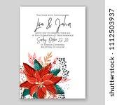 floral wedding invitation... | Shutterstock .eps vector #1112503937