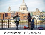 london  uk   12 april  2018  ... | Shutterstock . vector #1112504264