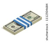 stack of hundred dollar bills ... | Shutterstock .eps vector #1112504684