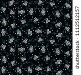 seamless  flower black   white... | Shutterstock .eps vector #1112512157