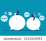 chat talk. business people for... | Shutterstock .eps vector #1112515391