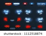 automotive led lights realistic ... | Shutterstock .eps vector #1112518874