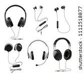 headsets earphones realistic... | Shutterstock .eps vector #1112518877