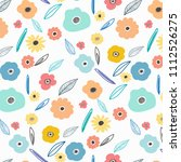 hand drawn floral pattern...   Shutterstock .eps vector #1112526275