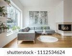 spacious white living room...   Shutterstock . vector #1112534624