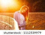 beautiful girl with long hair   Shutterstock . vector #1112539979
