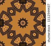 seamless art deco floral... | Shutterstock .eps vector #1112544437