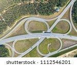 road junction in the... | Shutterstock . vector #1112546201