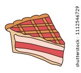 delicious piece of cake pie | Shutterstock .eps vector #1112546729