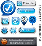 tick web blue buttons for... | Shutterstock .eps vector #111254939
