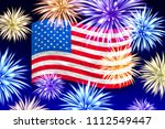 fireworks background for... | Shutterstock .eps vector #1112549447
